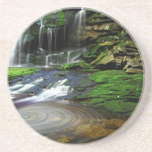 Elakala Waterfalls Swirling Pool Mossy Rocks Drink Coaster