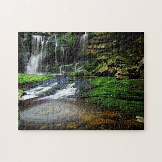 Elakala Waterfalls Swirling Pool Mossy Rocks Jigsaw Puzzle