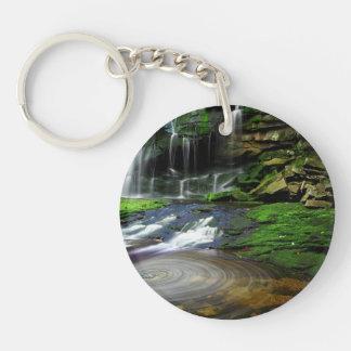 Elakala Waterfalls Swirling Pool Mossy Rocks Keychain