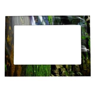 Elakala Waterfalls Swirling Pool Mossy Rocks Magnetic Picture Frame