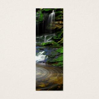 Elakala Waterfalls Swirling Pool Mossy Rocks Mini Business Card