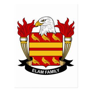 Elam Family Crest Postcard