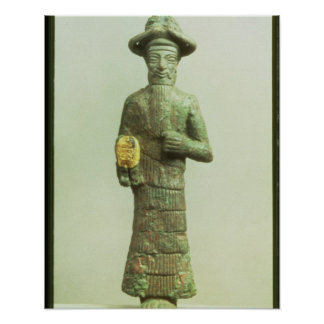 Elamite God with Golden Hand from Susa, Southweste Poster