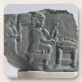 Elamite woman spinning, Neo-Elamite Period, c.700- Beverage Coaster