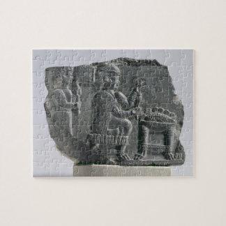 Elamite woman spinning, Neo-Elamite Period, c.700- Jigsaw Puzzle