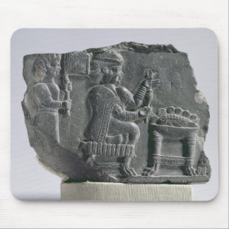 Elamite woman spinning, Neo-Elamite Period, c.700- Mouse Pad
