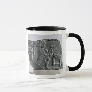 Elamite woman spinning, Neo-Elamite Period, c.700- Mug