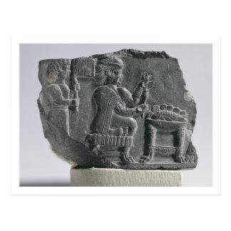 Elamite woman spinning, Neo-Elamite Period, c.700- Postcard