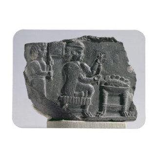 Elamite woman spinning, Neo-Elamite Period, c.700- Rectangular Photo Magnet