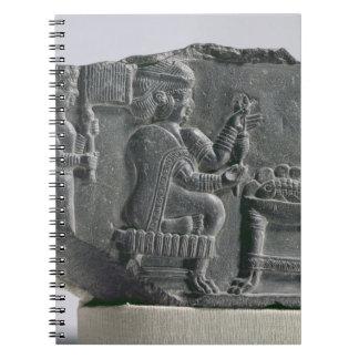 Elamite woman spinning, Neo-Elamite Period, c.700- Spiral Notebook