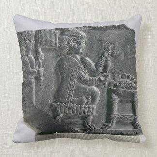 Elamite woman spinning, Neo-Elamite Period, c.700- Throw Pillow