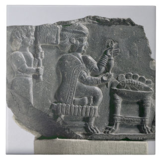 Elamite woman spinning, Neo-Elamite Period, c.700- Tile