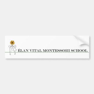 Elan Vital Montessori Car Bumper Sticker