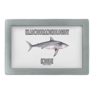 Elasmobranchologist Inside (Great White Shark) Rectangular Belt Buckle