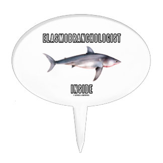 Elasmobranchologist Inside (Great White Shark) Cake Topper
