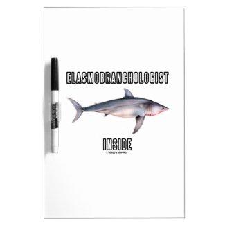 Elasmobranchologist Inside (Great White Shark) Dry-Erase Whiteboards