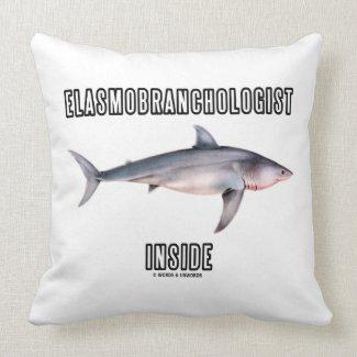 Elasmobranchologist Inside (Great White Shark) Pillow