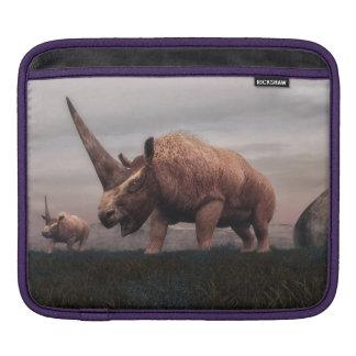Elasmotherium mammal dinosaurs - 3D render iPad Sleeve