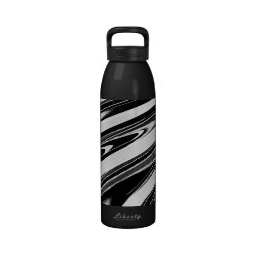 Elastic Lines Reusable Water Bottle
