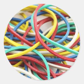 Elastic link classic round sticker