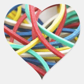 Elastic link heart sticker