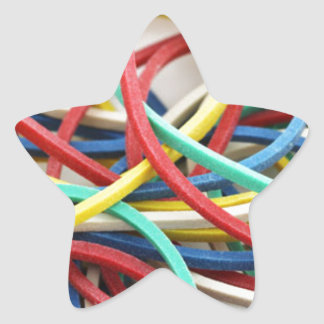 Elastic link star sticker