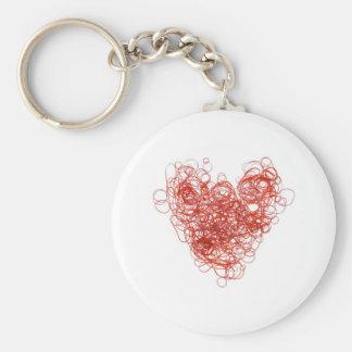 elastic love basic round button keychain