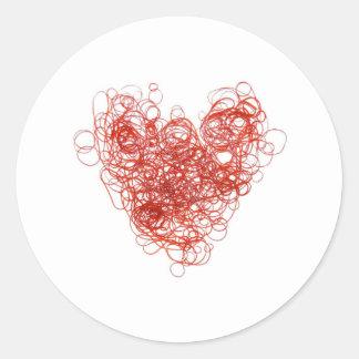 elastic love classic round sticker