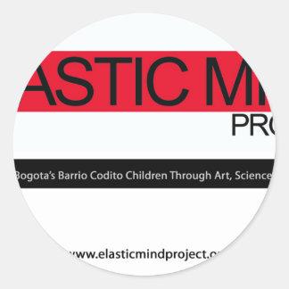 Elastic Mind Project Classic Round Sticker