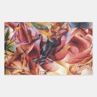 Elasticity by Umberto Boccioni Rectangular Sticker