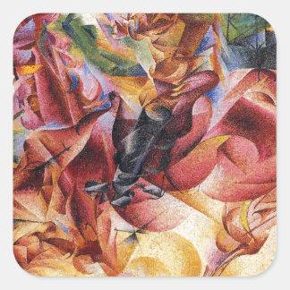 Elasticity by Umberto Boccioni Square Sticker