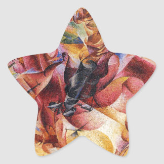 Elasticity by Umberto Boccioni Star Sticker