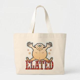 Elated Fat Man Large Tote Bag