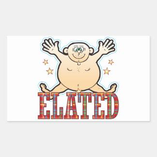 Elated Fat Man Rectangular Sticker