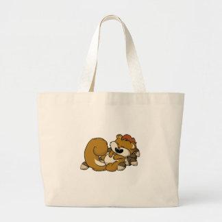 Elated Squirrel! Large Tote Bag