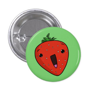 Elated Strawberry Button