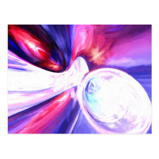 Elation Painted Abstract Postcard