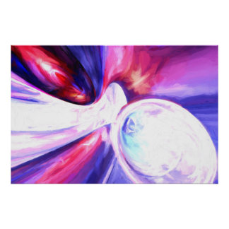 Elation Painted Abstract Poster