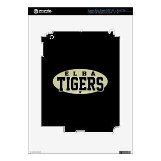 Elba High School; Tigers Skins For iPad 3