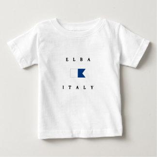 Elba Italy Alpha Dive Flag Baby T-Shirt