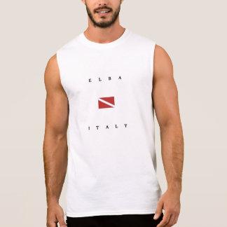 Elba Italy Scuba Dive Flag Sleeveless Shirt