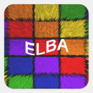 ELBA SQUARE STICKER