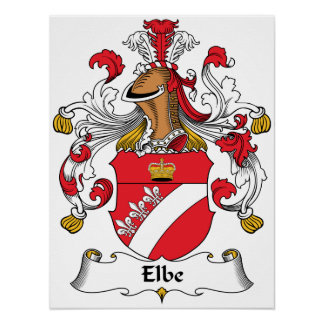 Elbe Family Crest Poster