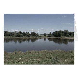 Elbe River in Dessau German Card
