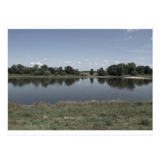Elbe River in Dessau German Postcard