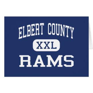 Elbert County Rams Middle Elberton Georgia Greeting Cards