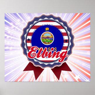 Elbing, KS Print