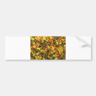 elbow pasta texture pattern background food tricol bumper sticker