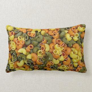 elbow pasta texture pattern background food tricol lumbar pillow