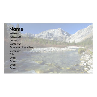 Elbow River, Alberta, Canada Double-Sided Standard Business Cards (Pack Of 100)